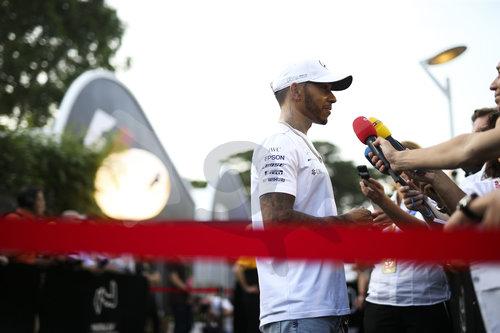 Motorsports: FIA Formula One World Championship 2017, Grand Prix of Singapore